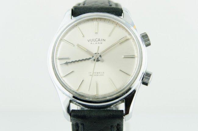 Vulcain Alarm Steel Watch