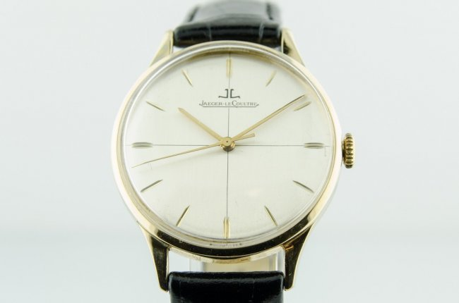 LeCoultre 14K Gold Case Watch