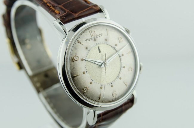 Rare LeCoultre Stainless Steel Alarm Watch - 2