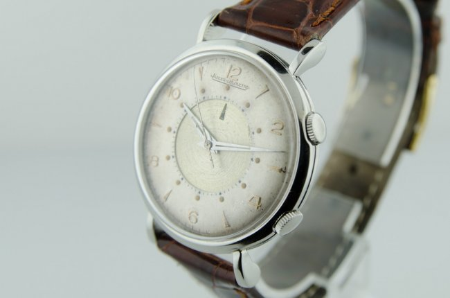 Rare LeCoultre Stainless Steel Alarm Watch - 3