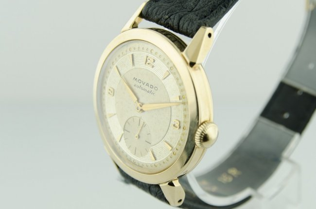 Movado 14K Solid Gold Automatic Watch, 1950's - 3
