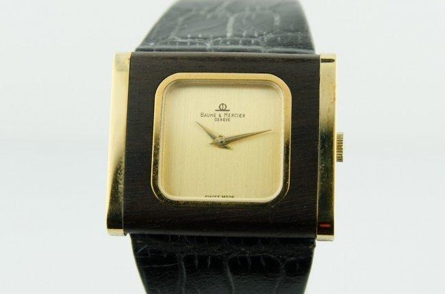 1 of a Kind Baume & Mercier Wood Watch