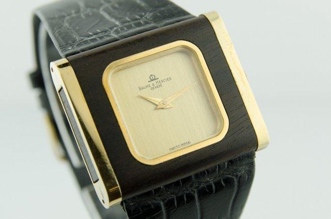1 of a Kind Baume & Mercier Wood Watch - 2