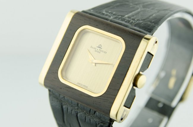 1 of a Kind Baume & Mercier Wood Watch - 3