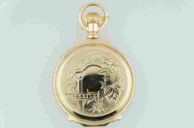 Waltham 14K Solid Gold Oversized Box Pocketwatch