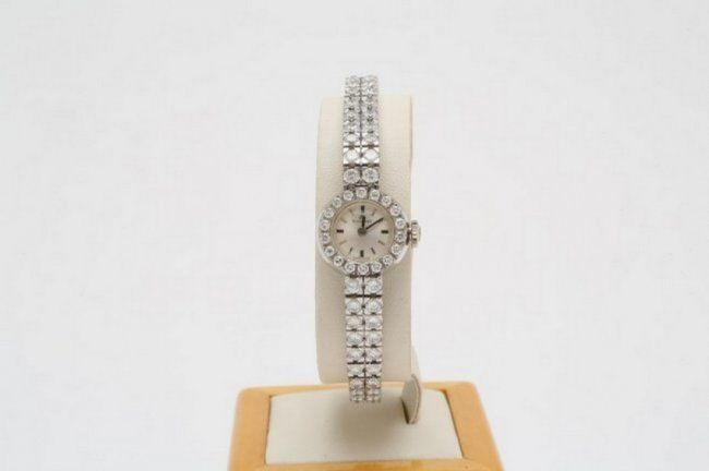 Bucherer Diamond Tennis Bracelet Watch, 1960's