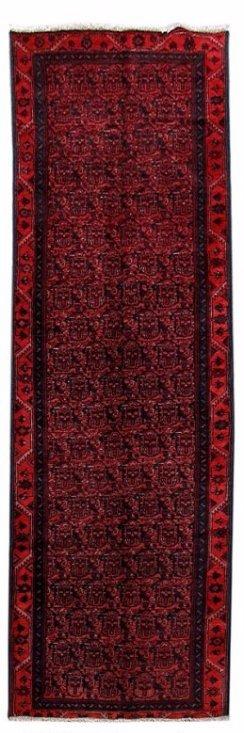 Persian Hamadan Runner Rug 3.3x9.8