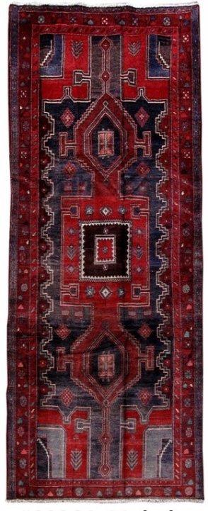 Persian Mahal Runner Rug 3.9x9.4
