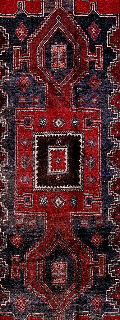 Persian Mahal Runner Rug 3.9x9.4 - 4