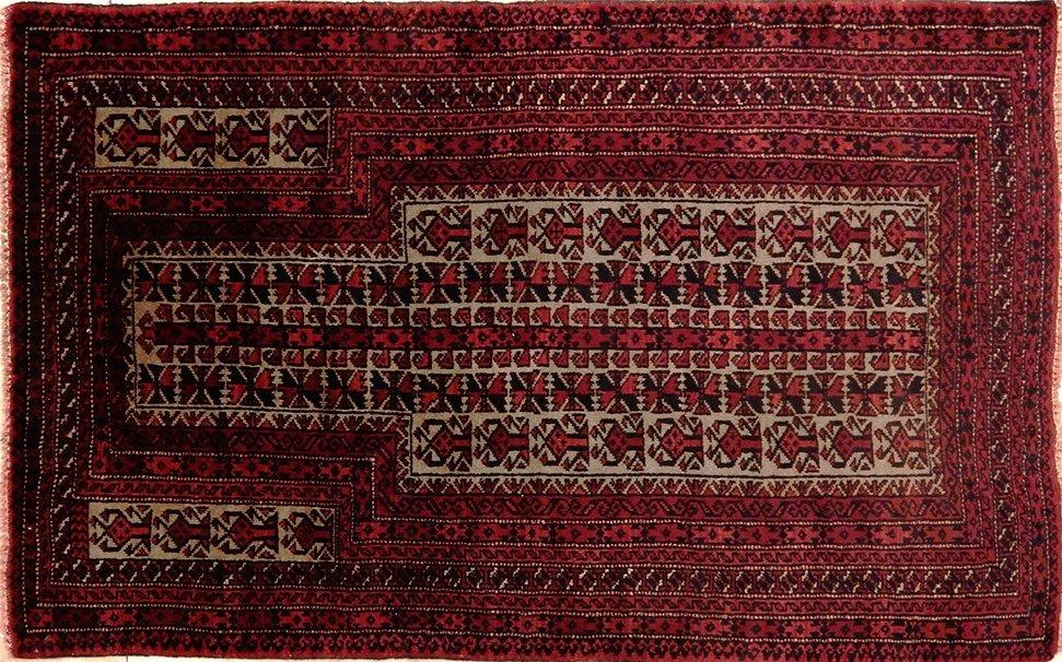 Semi-Antique Afgan Balouch Rug 2.10x4.6
