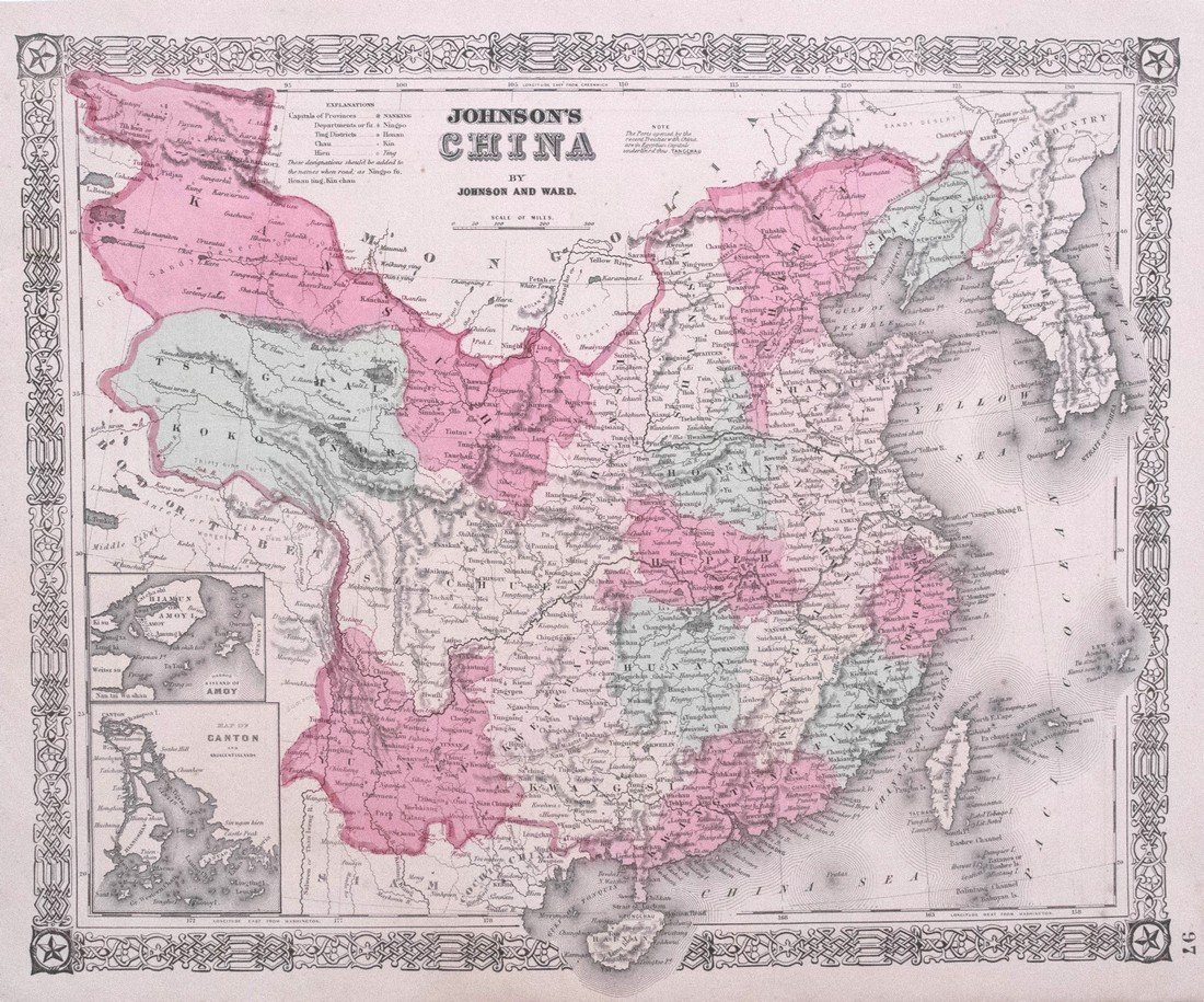 Johnson & Ward: Map of China, 1860