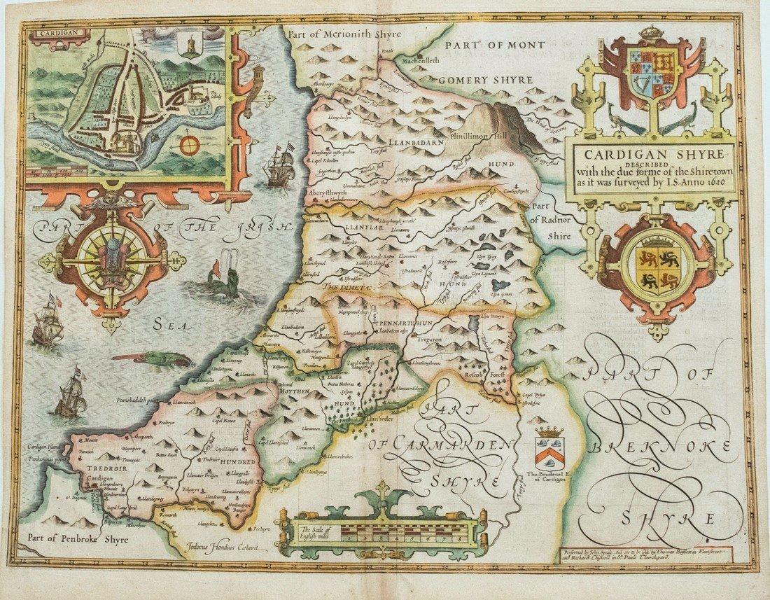 John Speed: Map of Cardigan Shyre, 1630