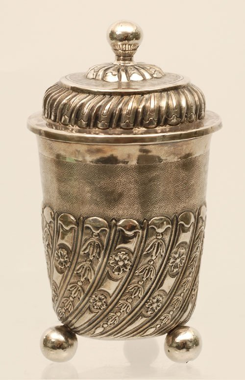 A Russian silver covered cup, Moscow, 1740s