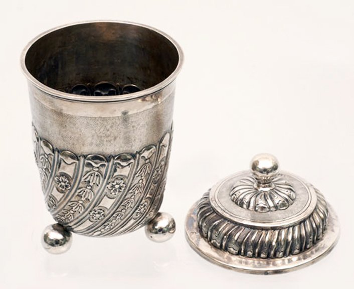 A Russian silver covered cup, Moscow, 1740s - 2
