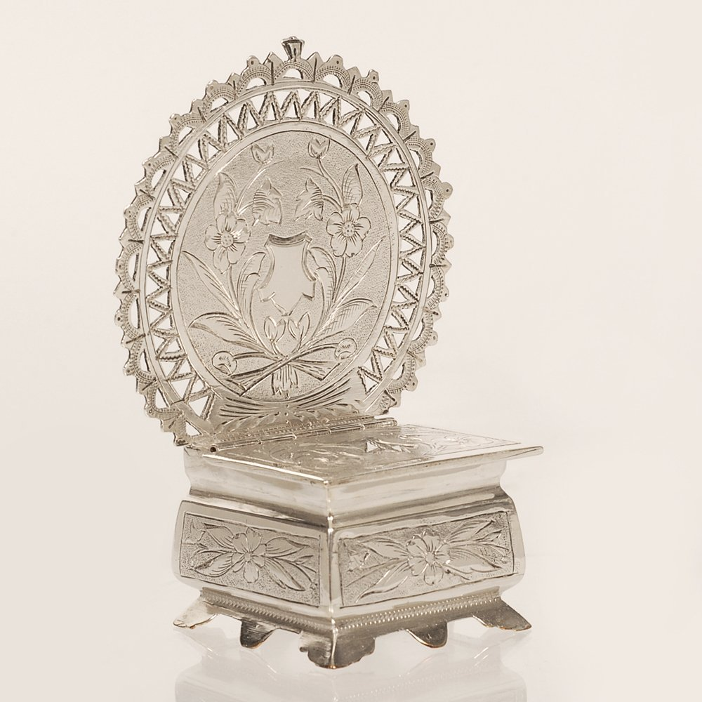 A Russian silver salt throne, Semen Kazakov, 1899-1908