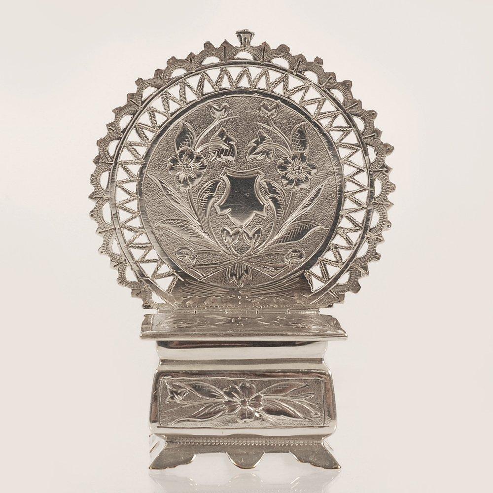 A Russian silver salt throne, Semen Kazakov, 1899-1908 - 2