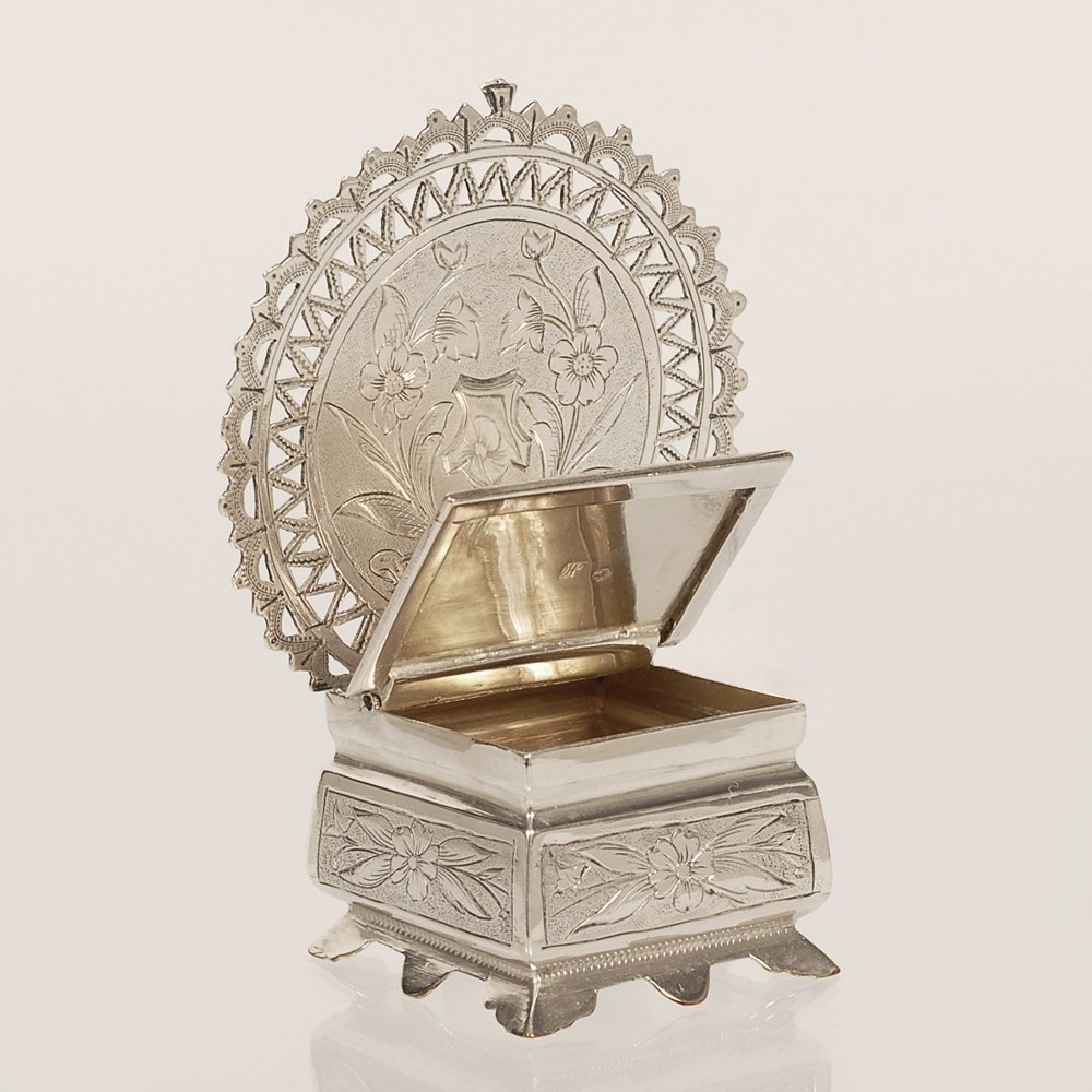 A Russian silver salt throne, Semen Kazakov, 1899-1908 - 3