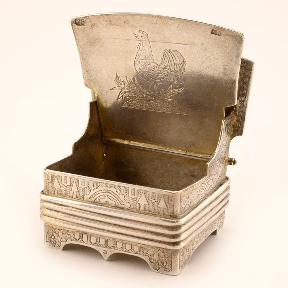 A Russian silver salt throne, 1869 - 5
