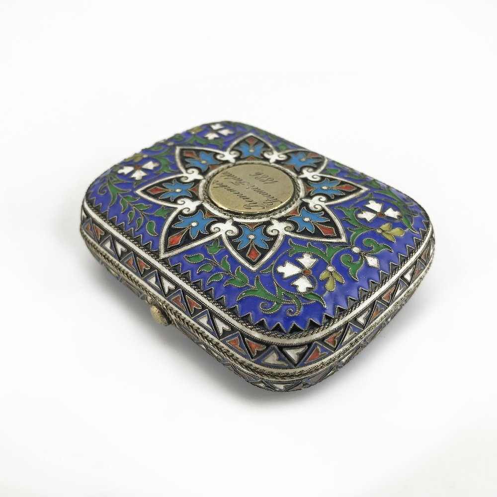 A Russian gilded silver and cloisonne enamel coin case - 2