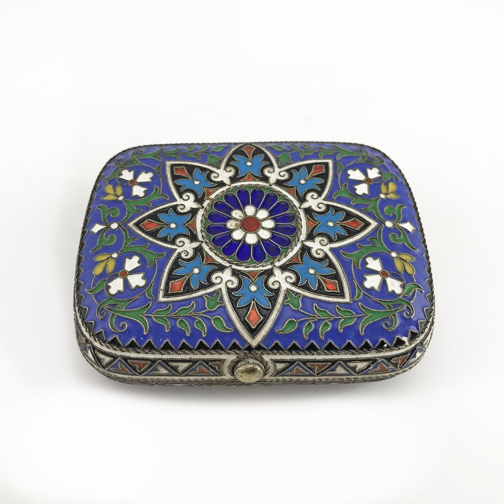 A Russian gilded silver and cloisonne enamel coin case - 3