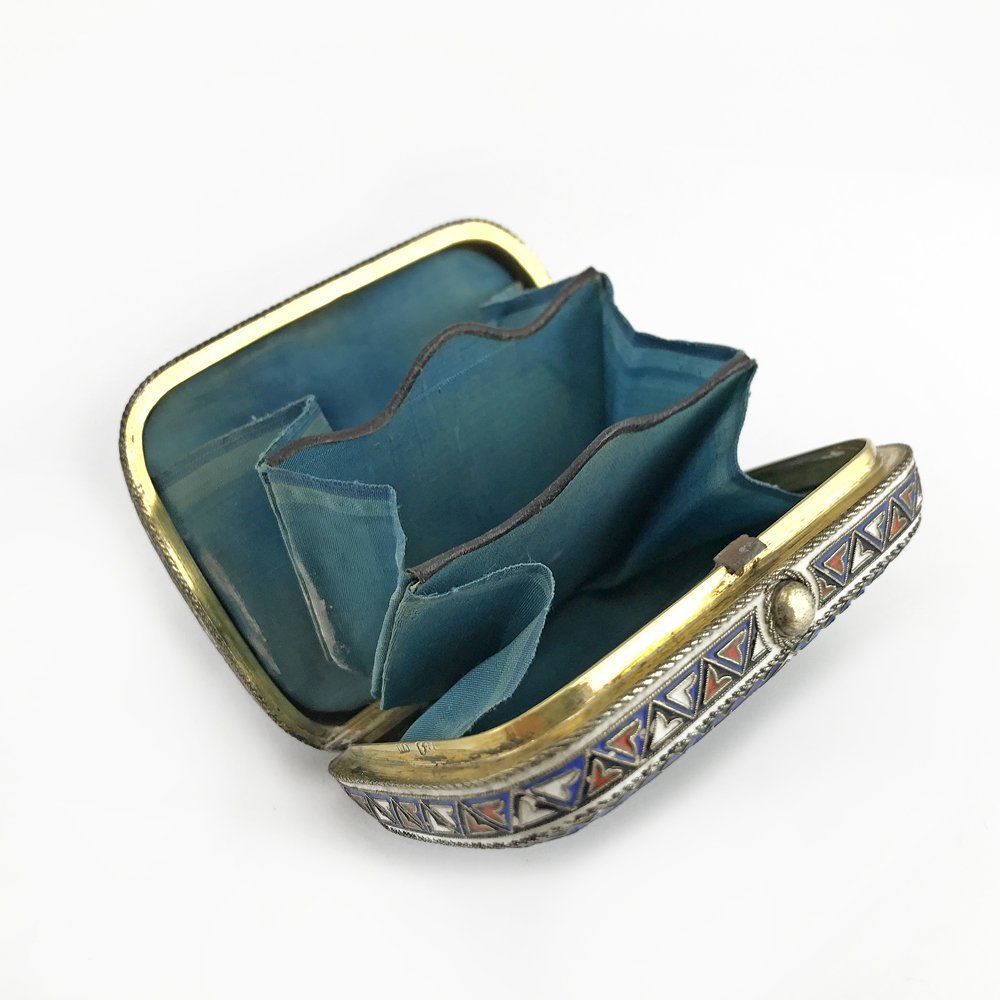 A Russian gilded silver and cloisonne enamel coin case - 4