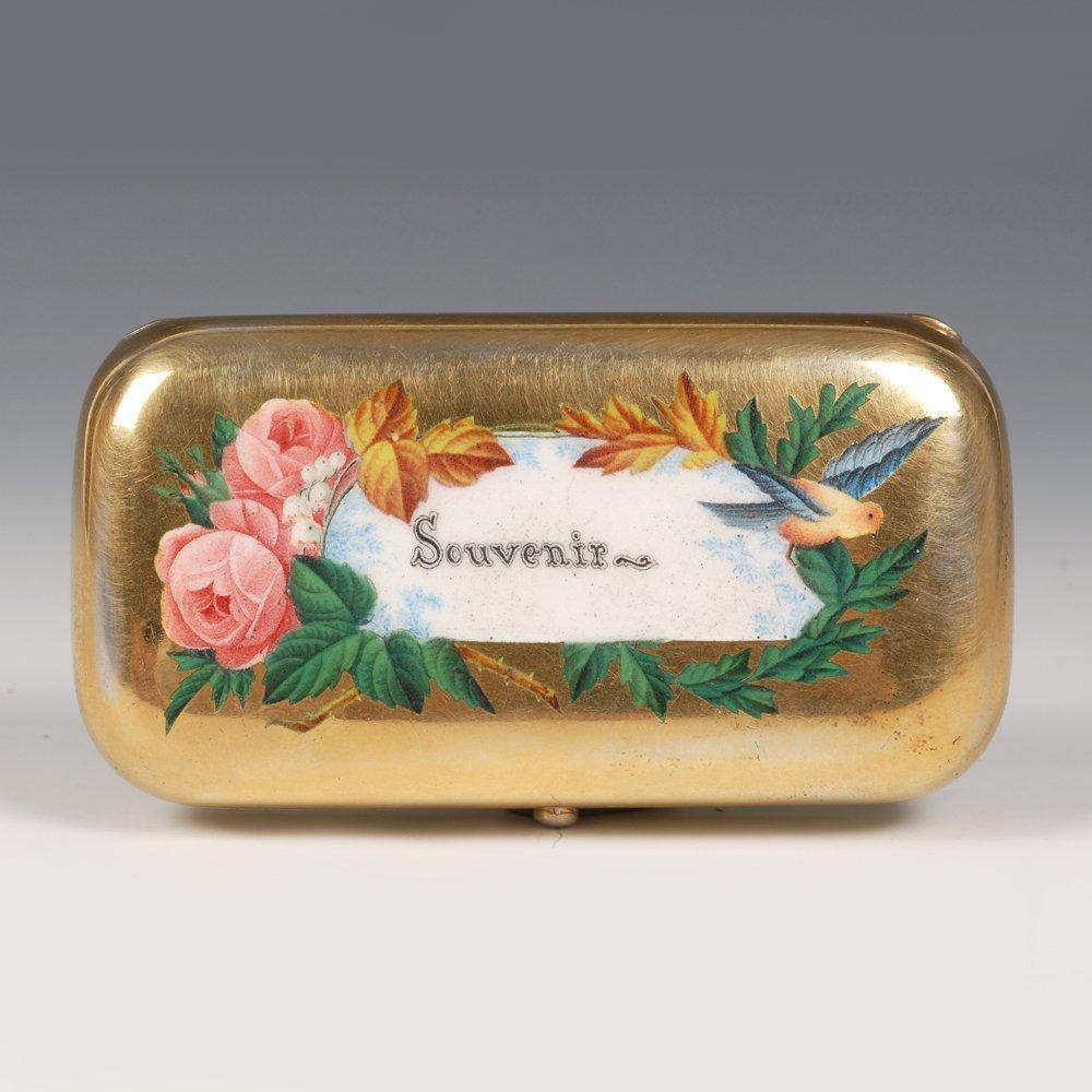 Russian pictorial & champleve enamel cigarette case