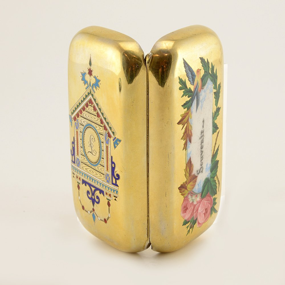Russian pictorial & champleve enamel cigarette case - 3