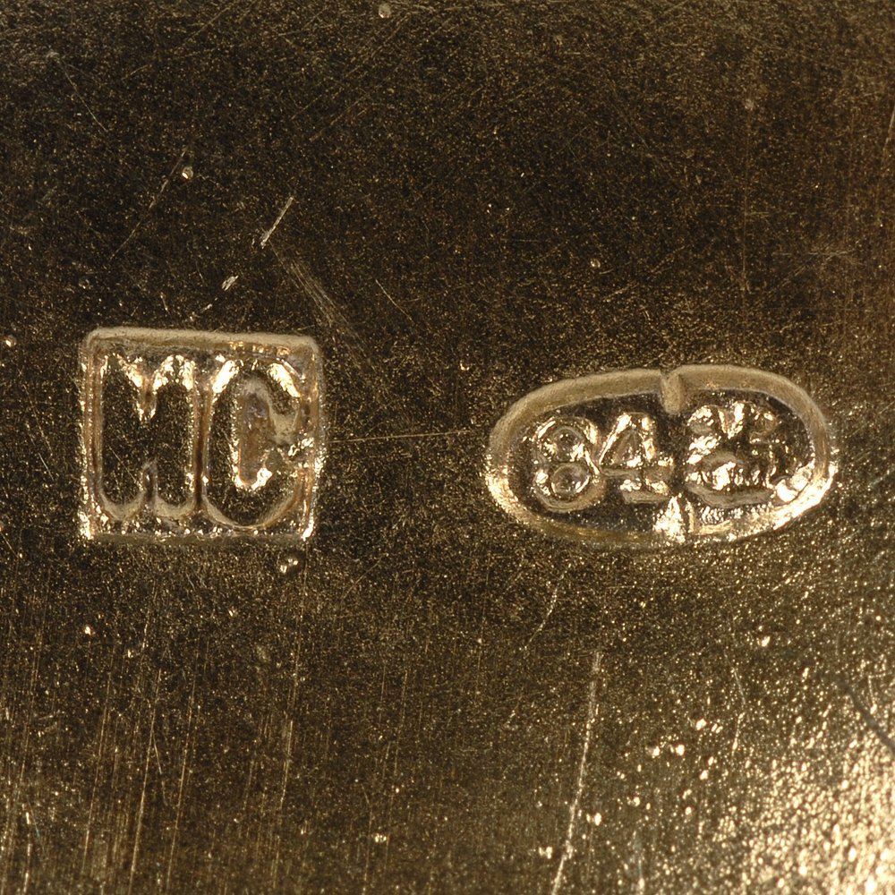 Pair of Russian gilded silver & cloisonne enamel kovshi - 5