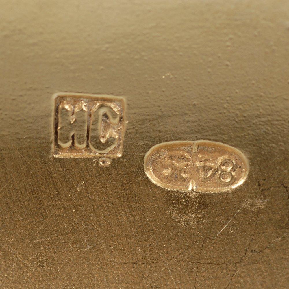 Pair of Russian gilded silver & cloisonne enamel kovshi - 9