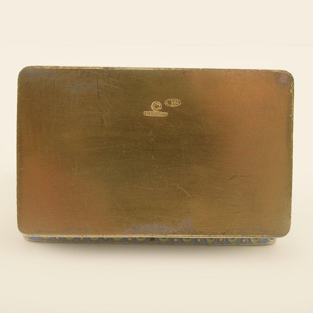 A Russian gilded silver & cloisonne enamel snuff box - 5