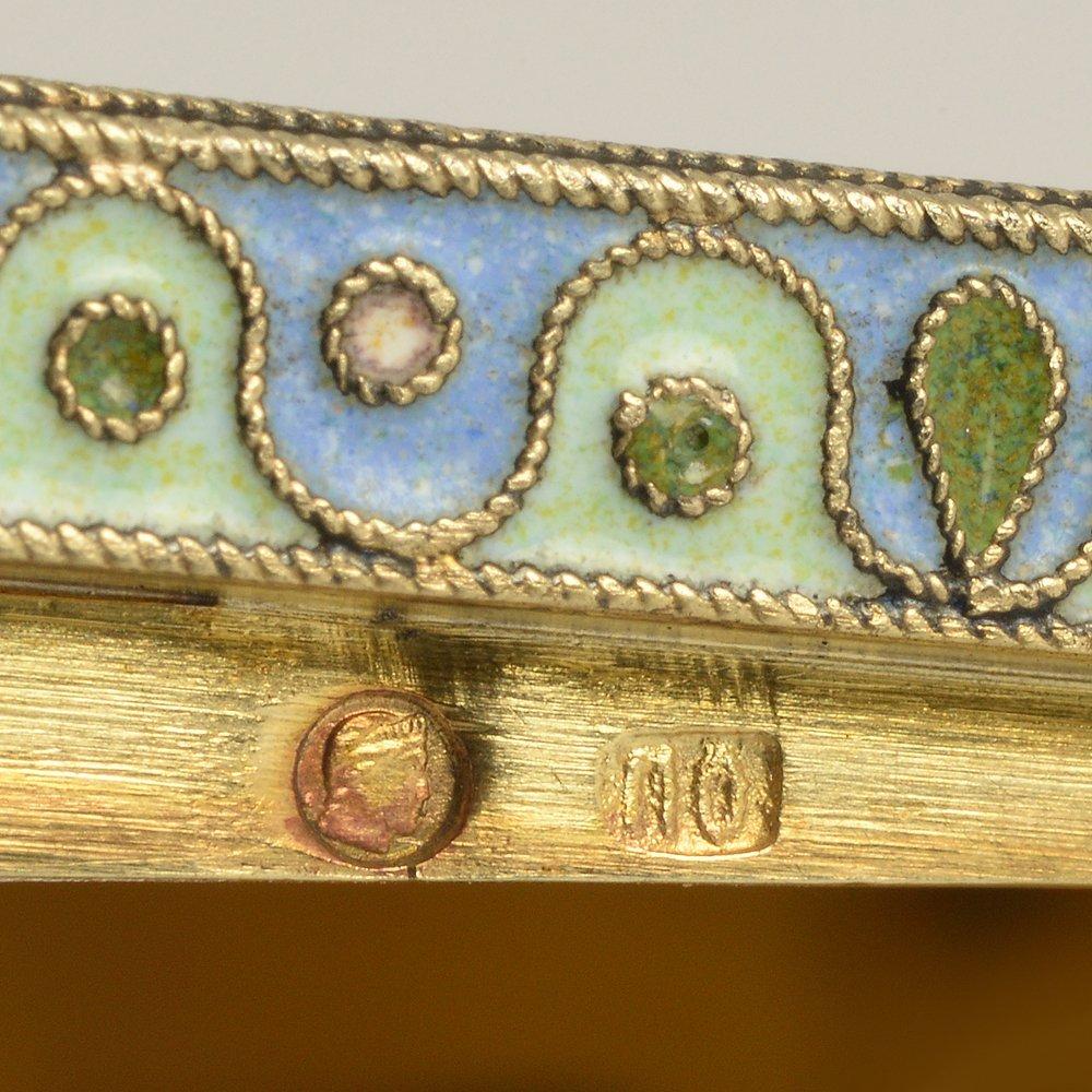 A Russian gilded silver & cloisonne enamel snuff box - 6