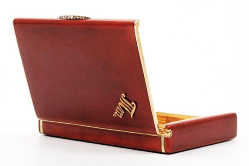 Russian gold-mounted silver & guilloche cigarette case - 5