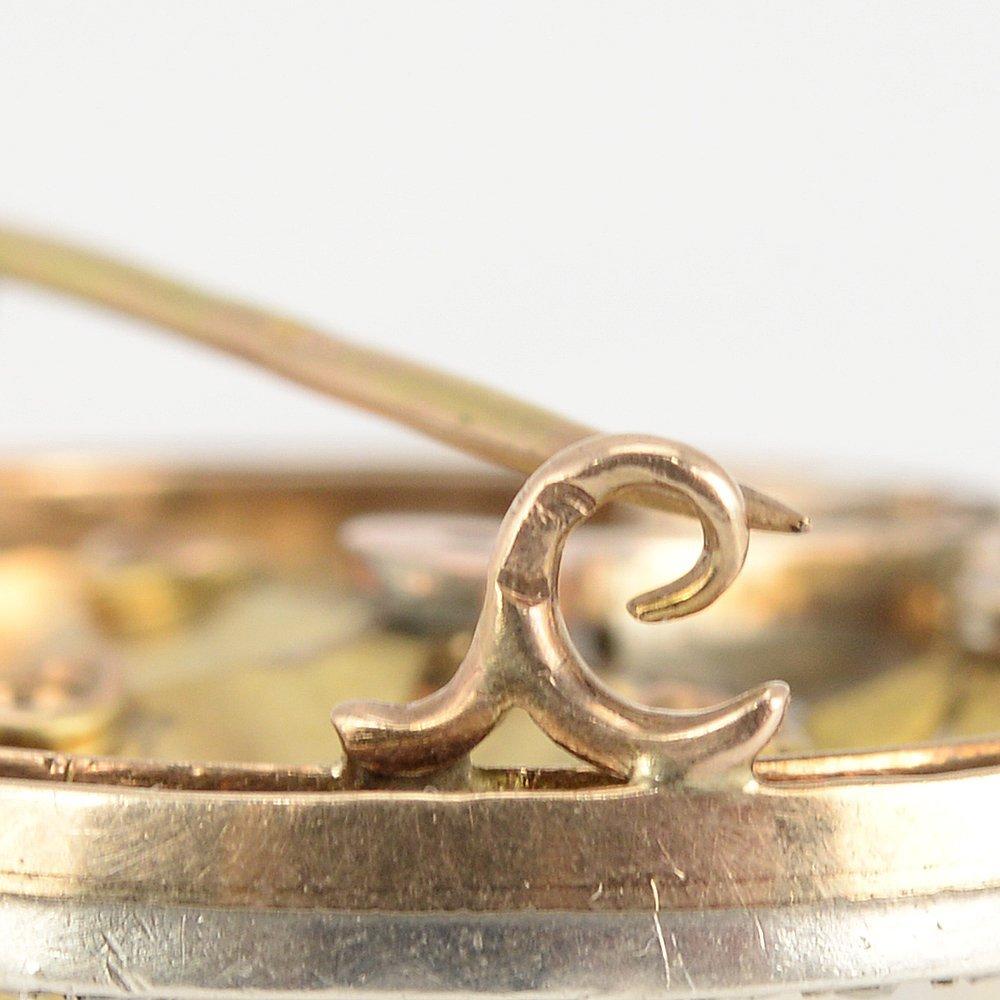 A Russian gold diamond & gem-set brooch, 1899-1908 - 3