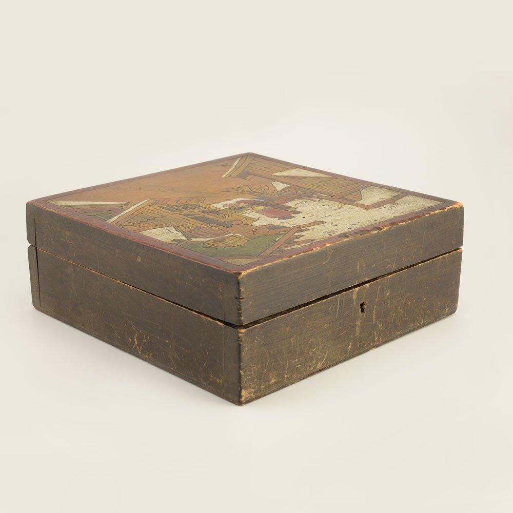 A Russian kustar or folk art jewelry box - 3