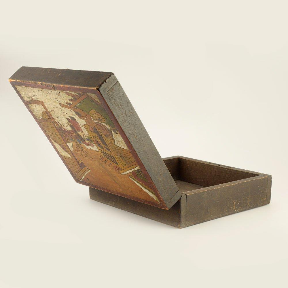 A Russian kustar or folk art jewelry box - 5
