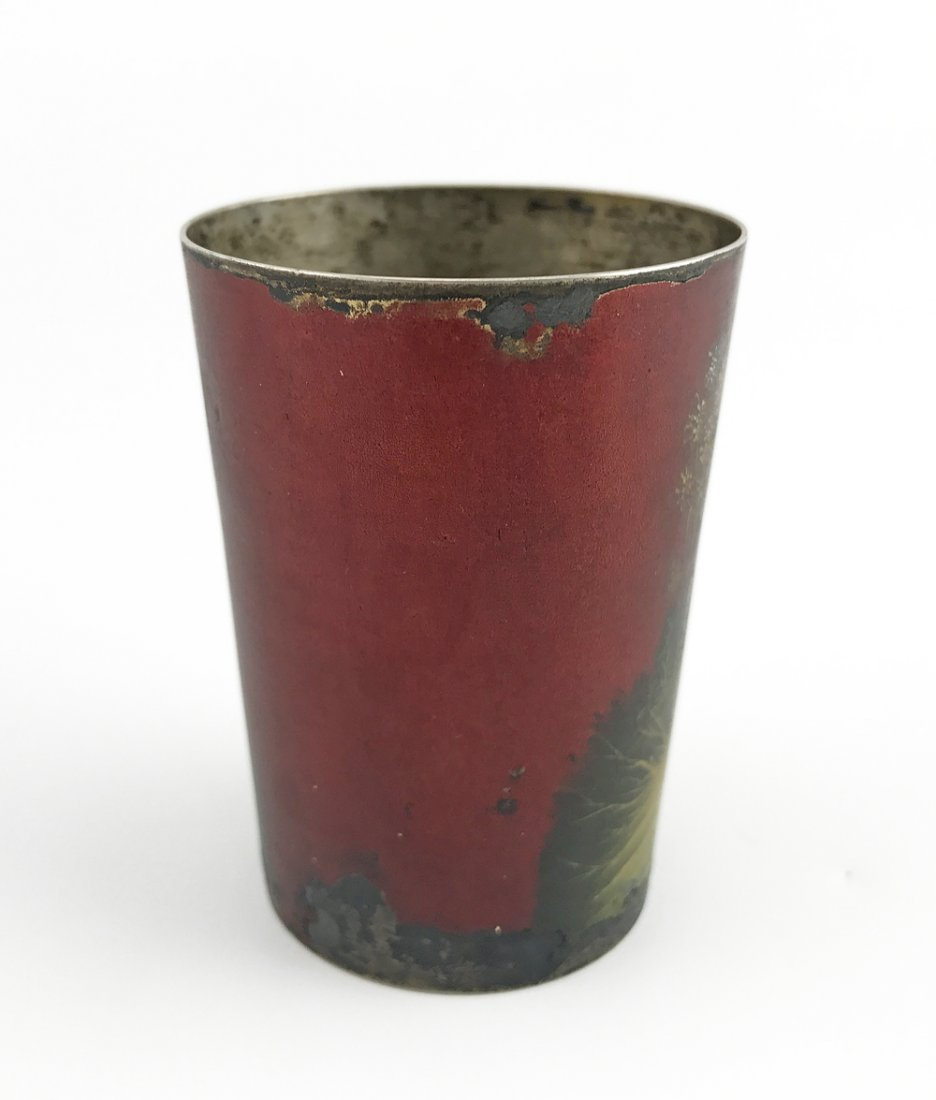 A Russian lacquered silver beaker - 2
