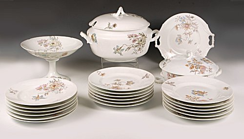 Kornilov Brothers 22pc Russian porcelain dinner service