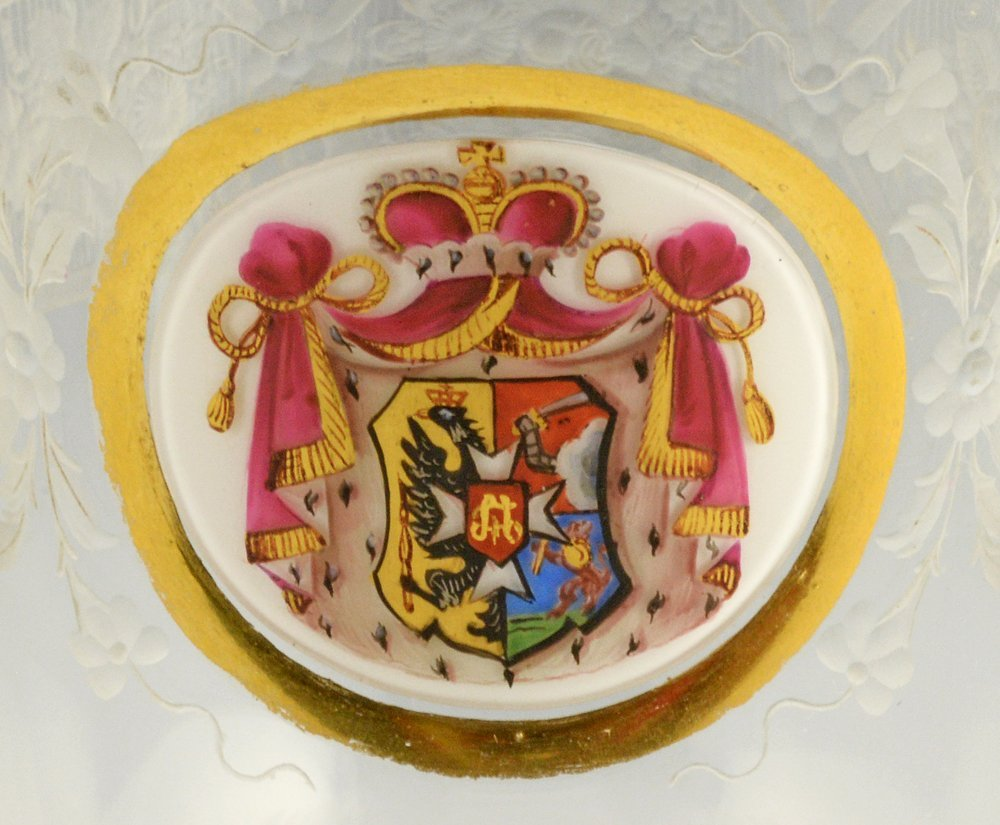 A Russian glass armorial goblet - 3