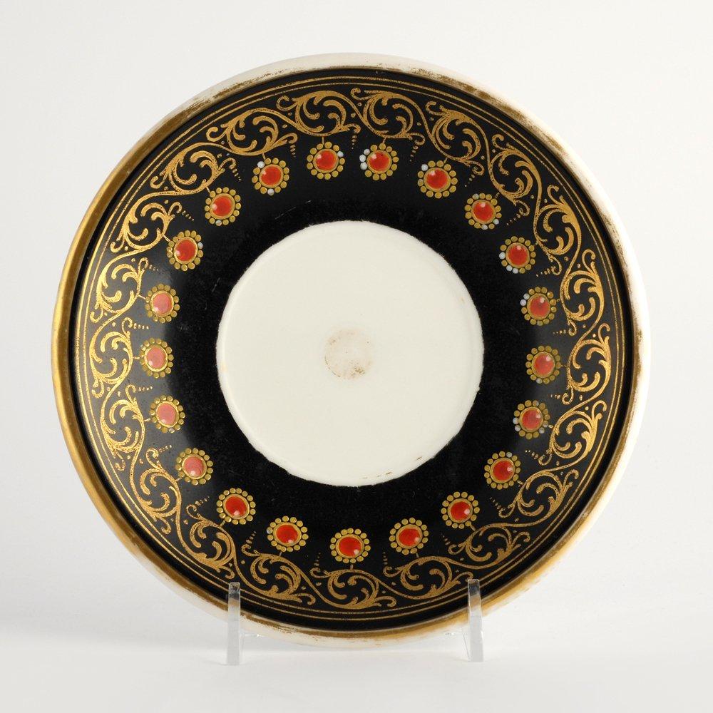 Porcelain cabinet cup & saucer, possibly Paris, c 1815 - 6