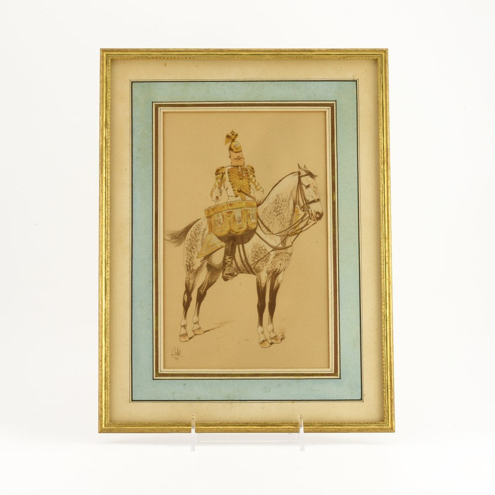 6 colored etchings of Cossacks & Russian military - 4