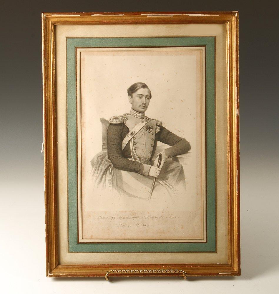 A framed portrait of Alexander Pletshcheef, circa 1820