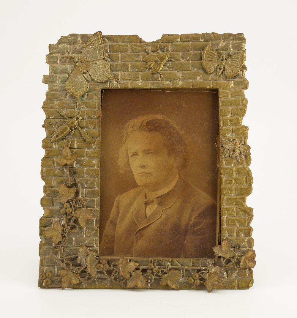 Continental or Russian gilt bronze photograph frame