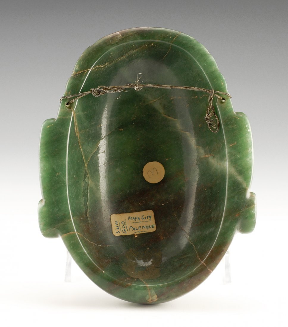 A carved jade mask in Pre-Columbian style - 2