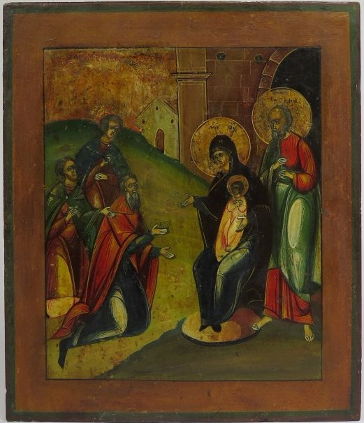 Visitation of the Magi Russian Orthodox Icon, 19th Cent