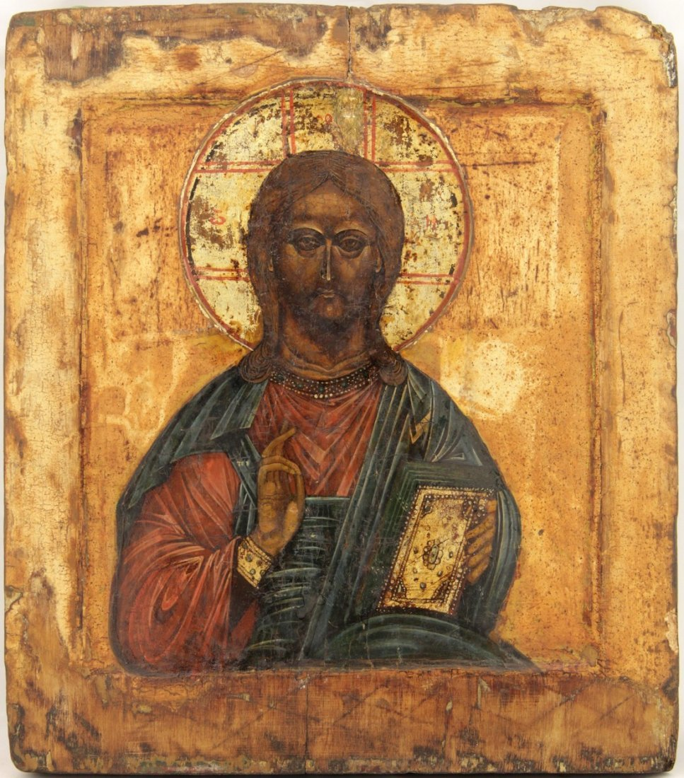 Christ the Almighty Russian Icon, 17th Century