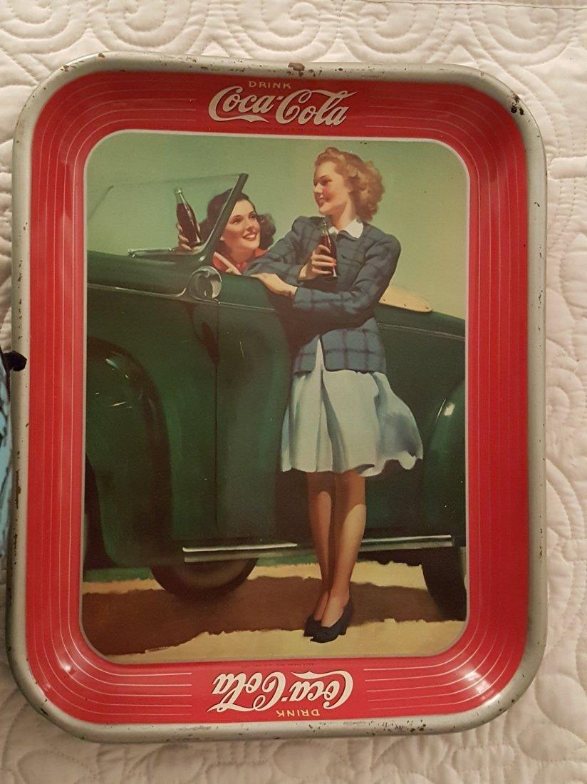 Vintage Coca-Cola Metal Advertising Tray