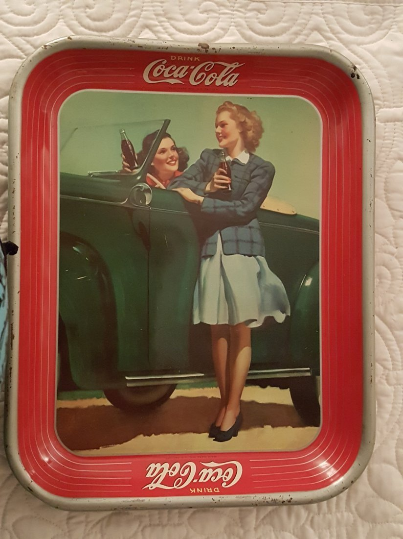 Vintage Coca-Cola Metal Advertising Tray