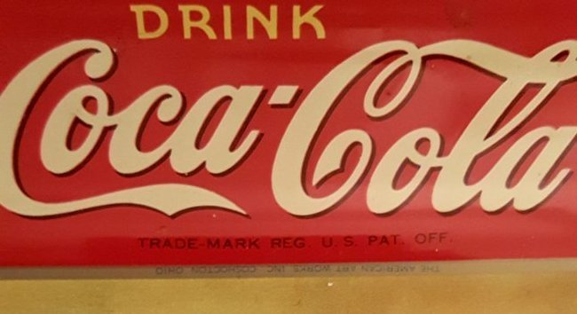 Vintage Coca-Cola Metal Advertising Tray - 2