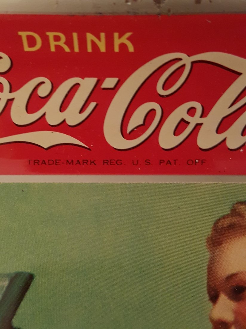 Vintage Coca-Cola Metal Advertising Tray - 3