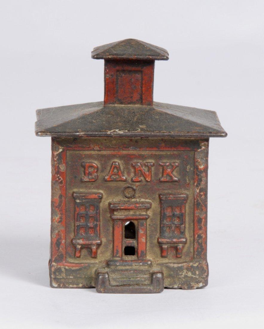 Cast Iron Cupola House Still Bank, c 1920